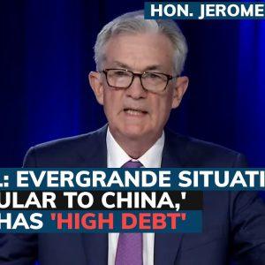 Powell talks' gradual' tapering, downplays Evergrande contagion concerns